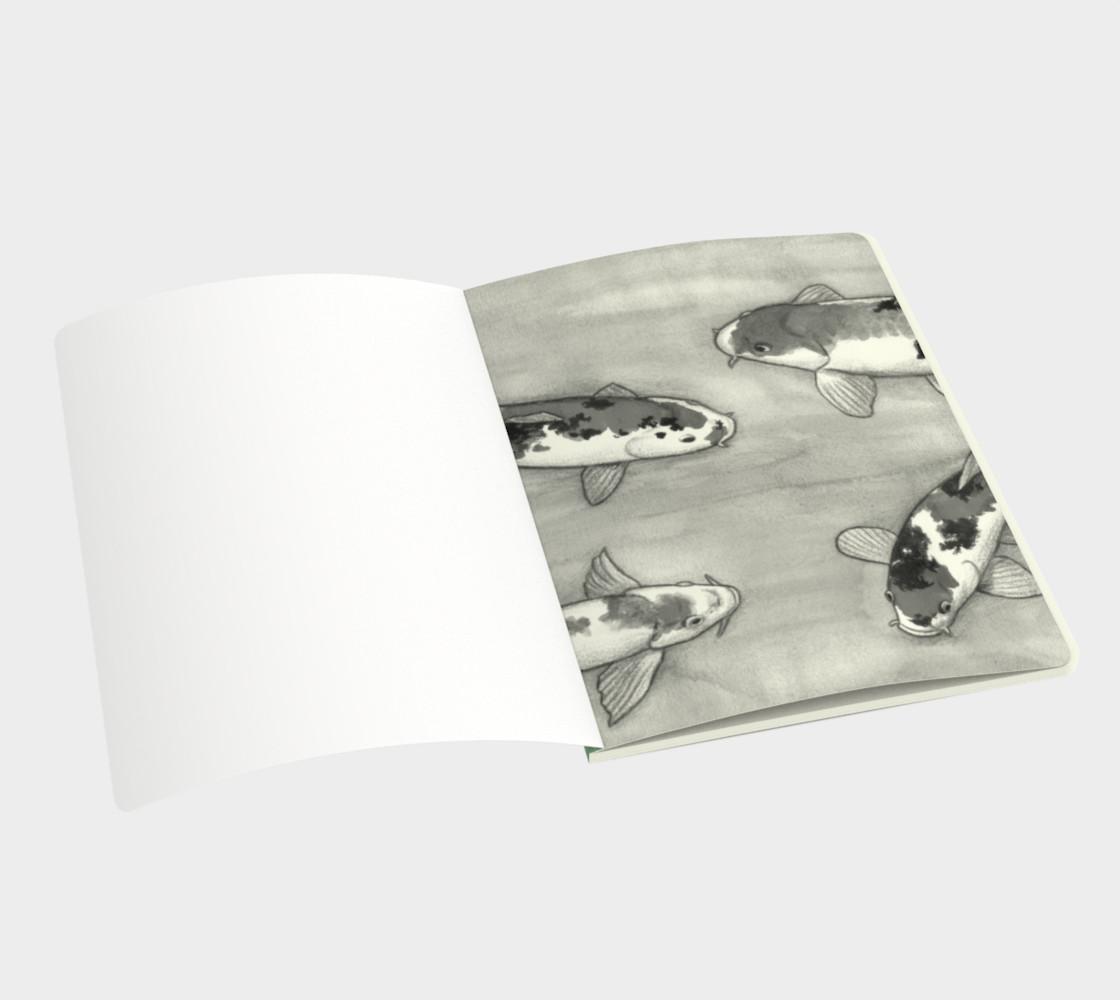La ronde des carpes koï Large Notebook preview #3