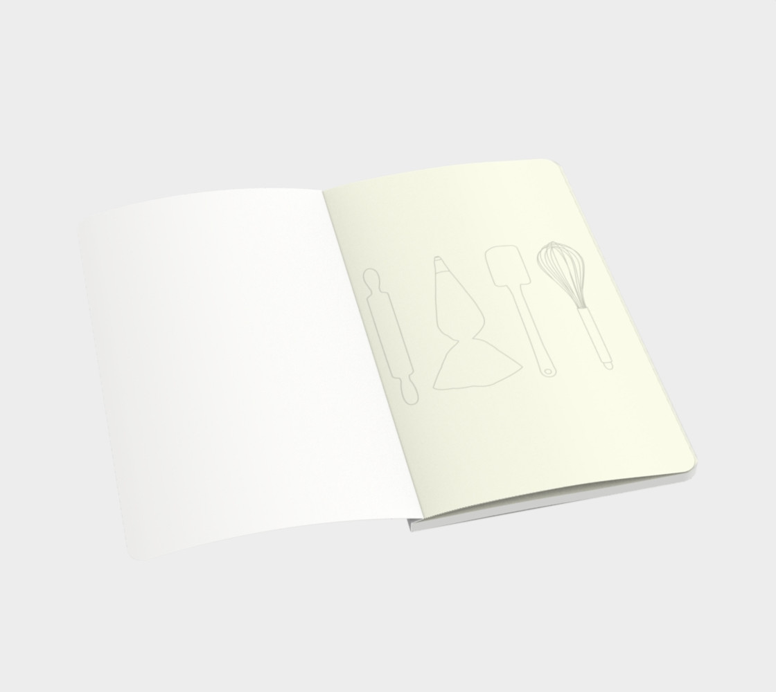 Baking Lover - White - Small Notebook Miniature #4