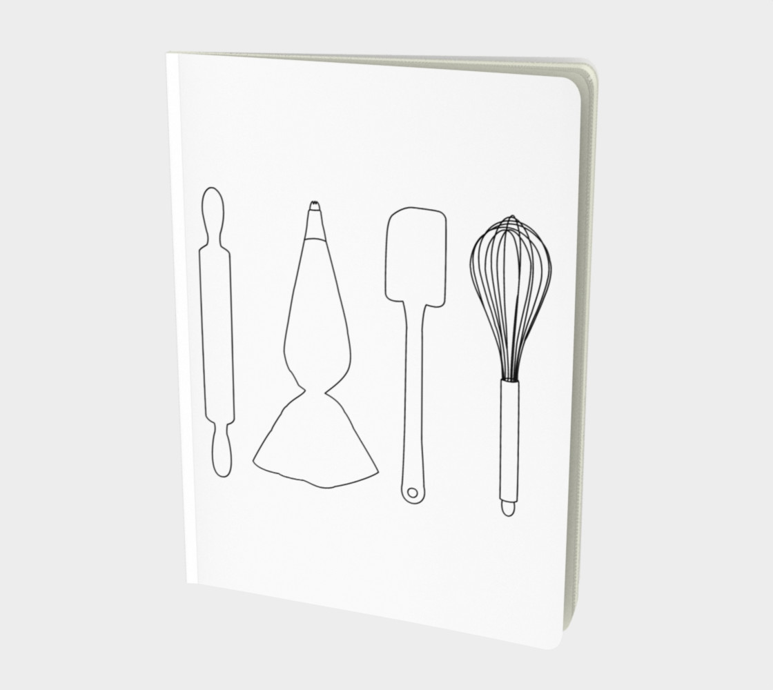 Baking Lover - White - Large Notebook Miniature #2