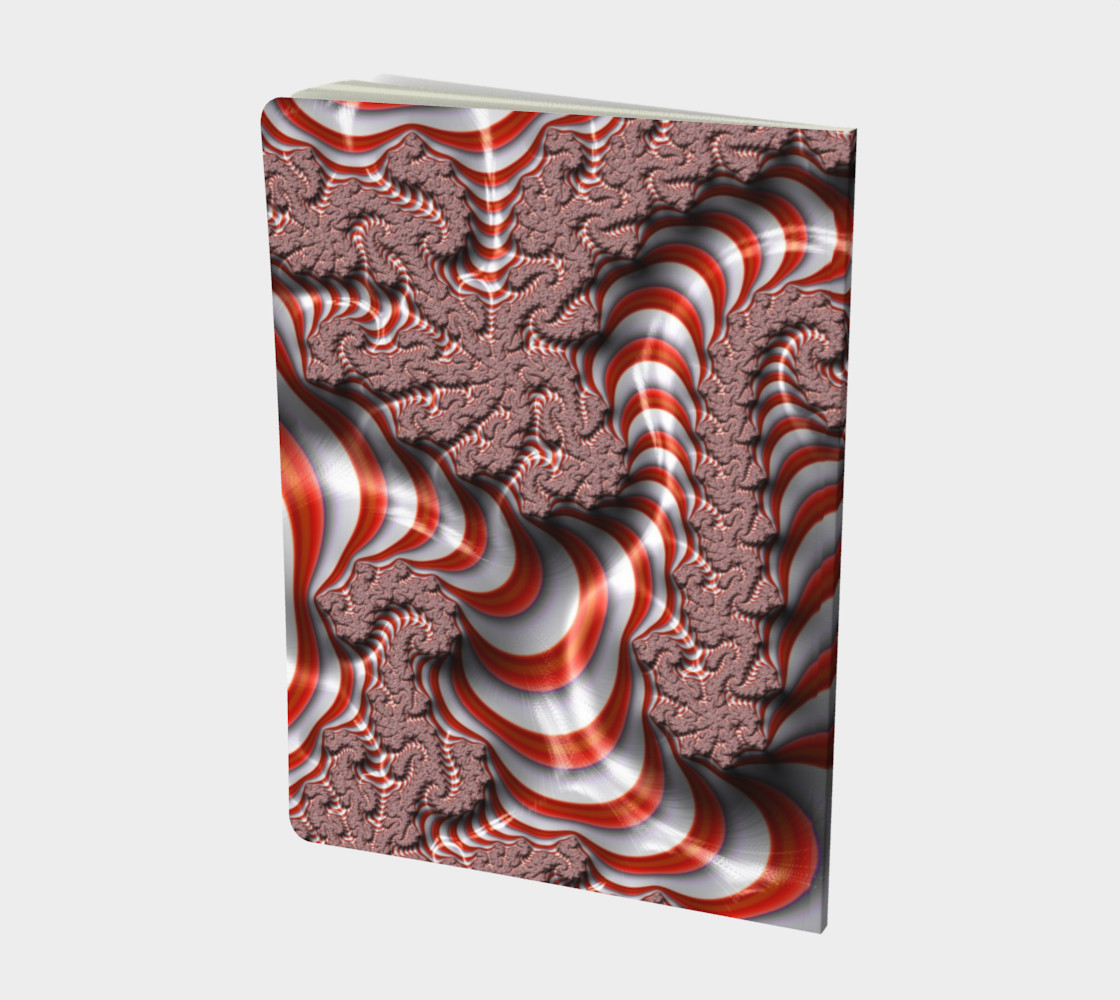 Candy Cane Fractal Notebook preview #2