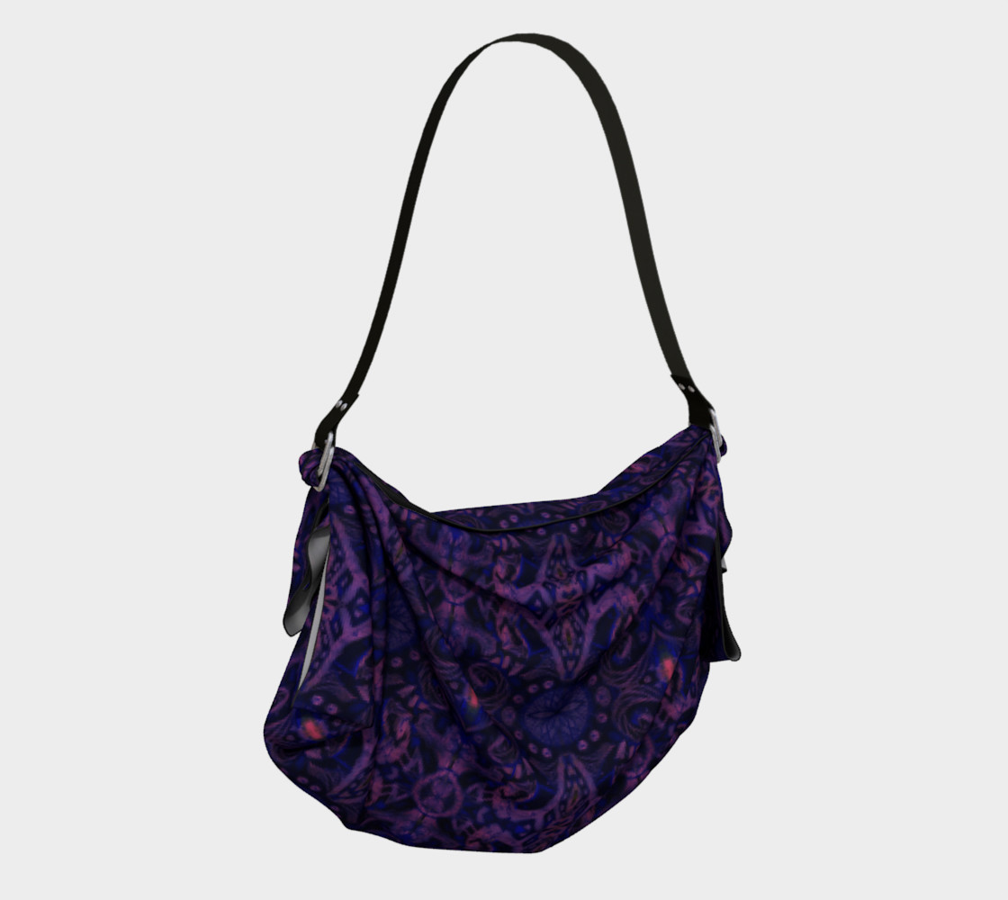 Curves & lotuses, abstract pattern, ultra-violet preview #2