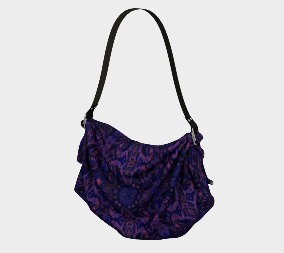 Curves & lotuses, abstract pattern, ultra-violet preview #1