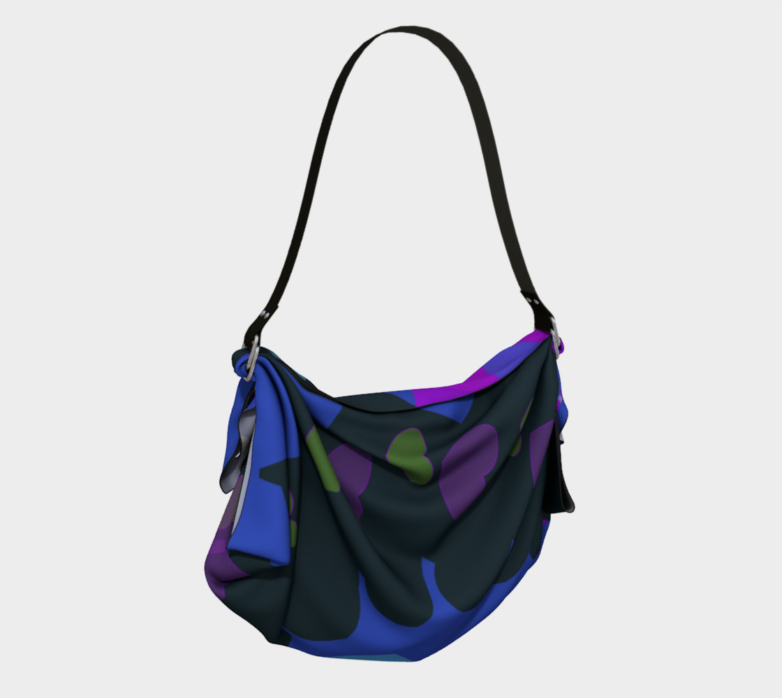 Bold & Colorful Hearts of Color Origami Tote Miniature #3