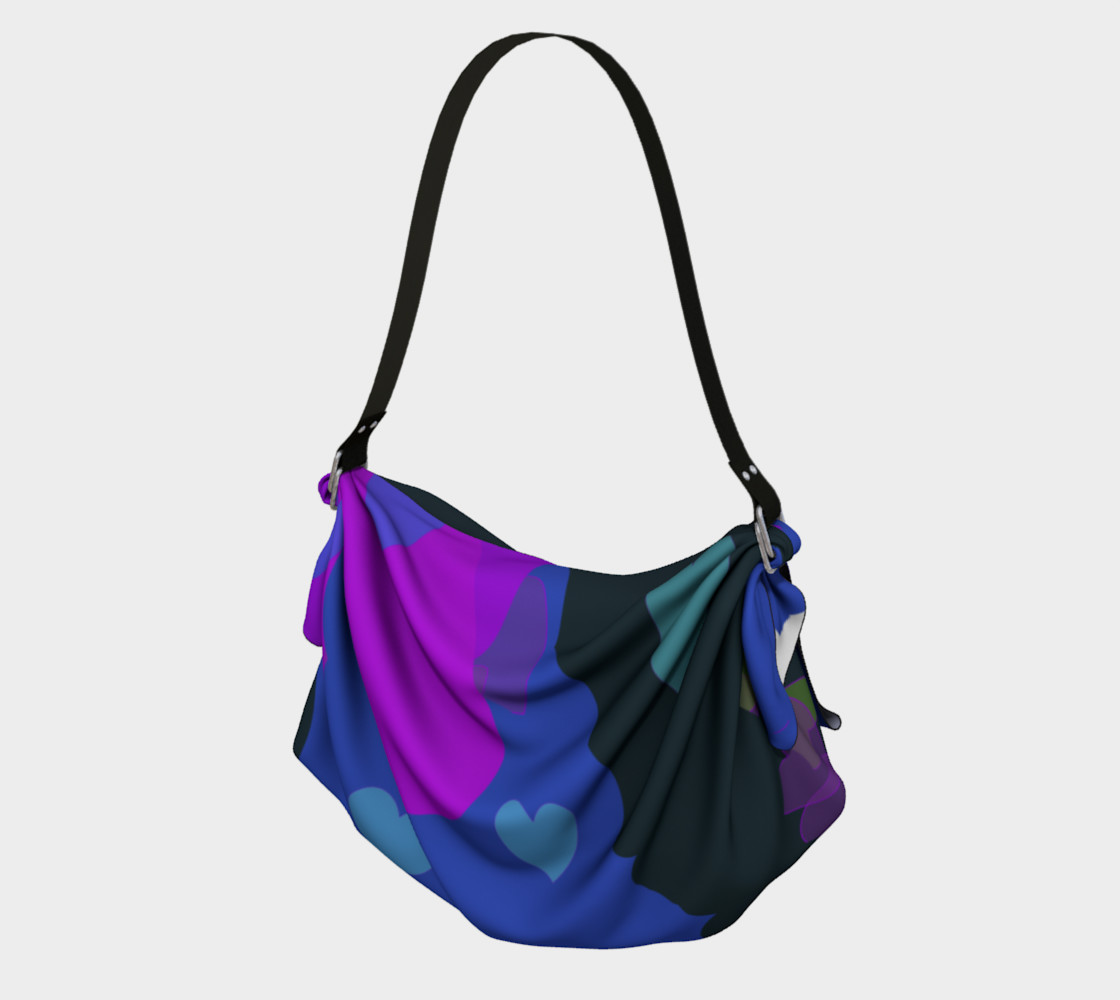 Bold & Colorful Hearts of Color Origami Tote Miniature #2