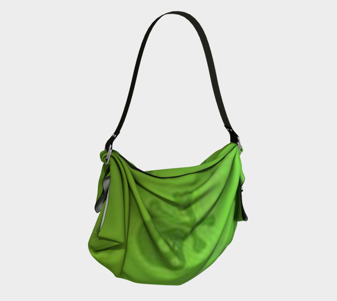 Cartoon Skull On Green Origami Tote bag preview #2