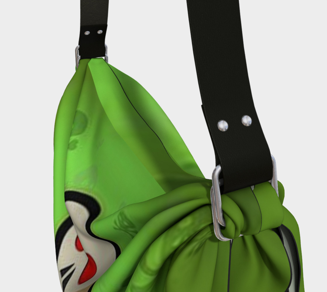Cartoon Skull On Green Origami Tote bag preview #3