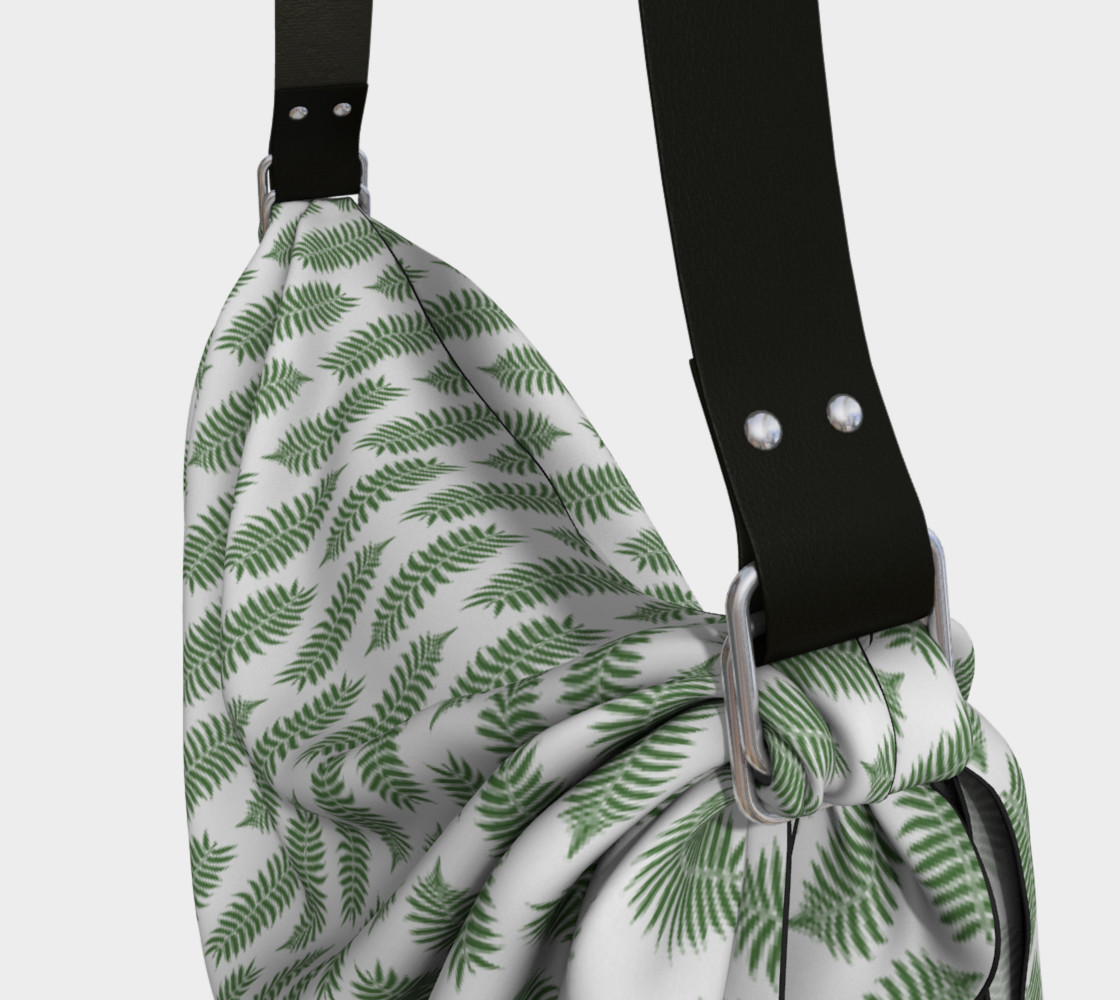 Green Fern Leaves on White preview #3