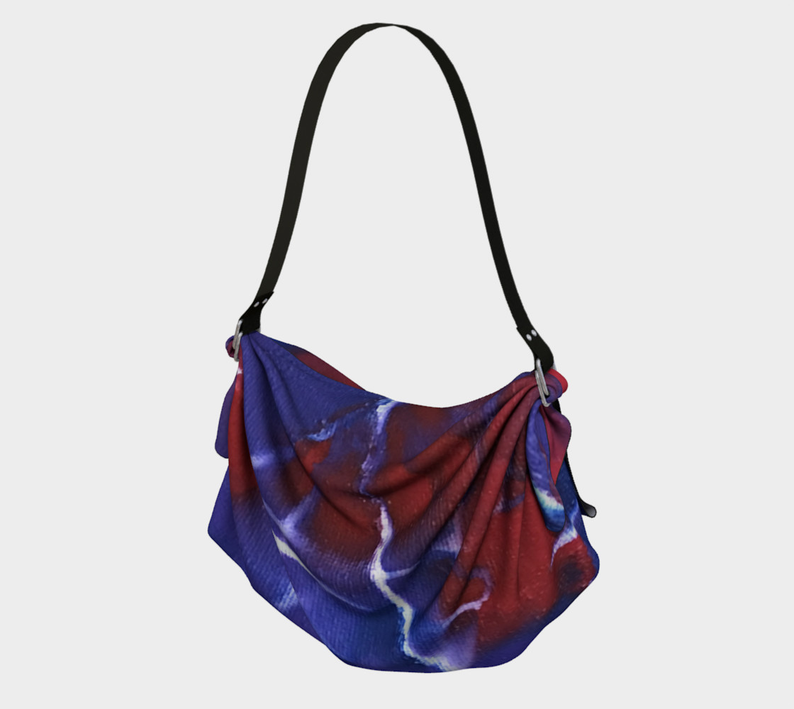 Aperçu de origami tote red white blue #1