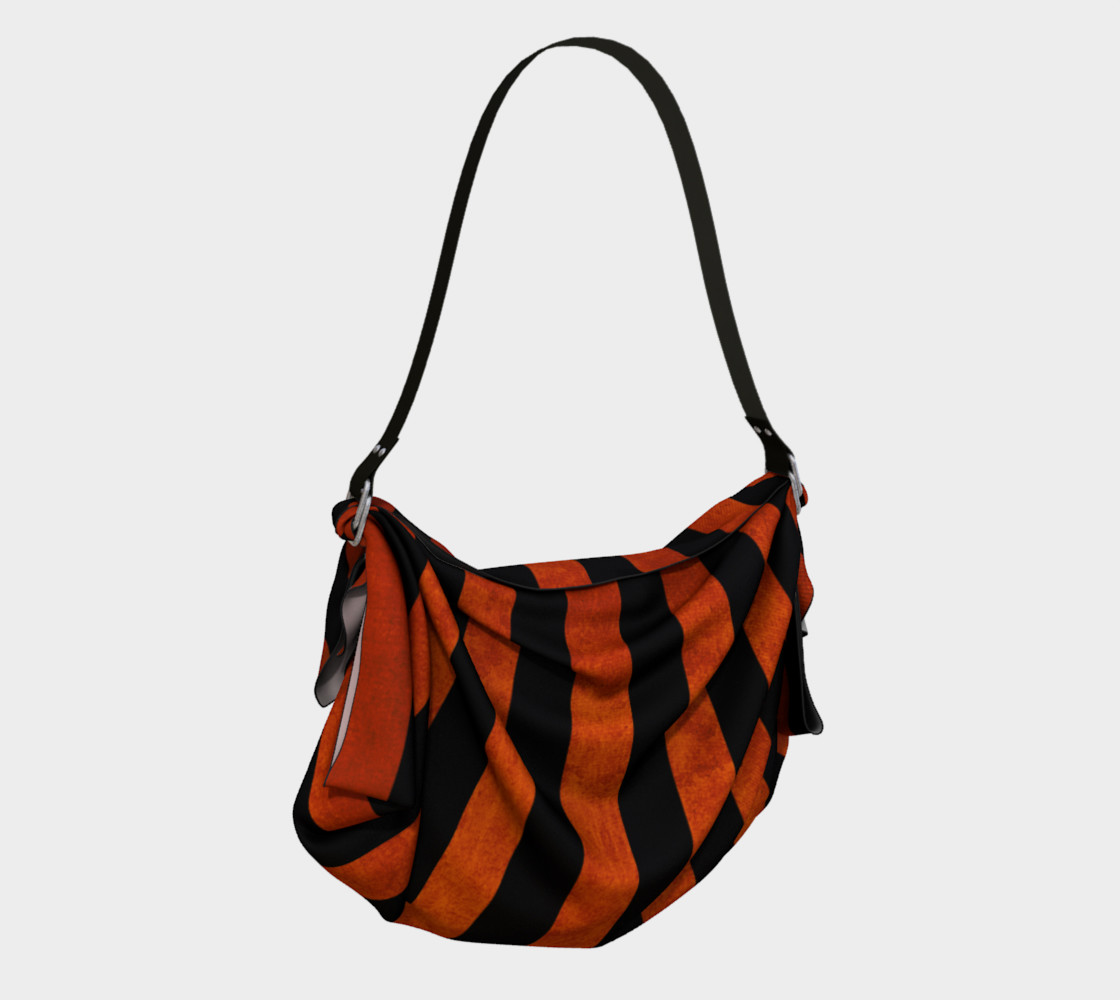 Stripes Collection: Halloween Origami Tote preview #2