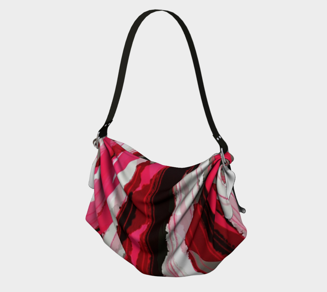 Silk Ribbons Origami handbag 3D preview