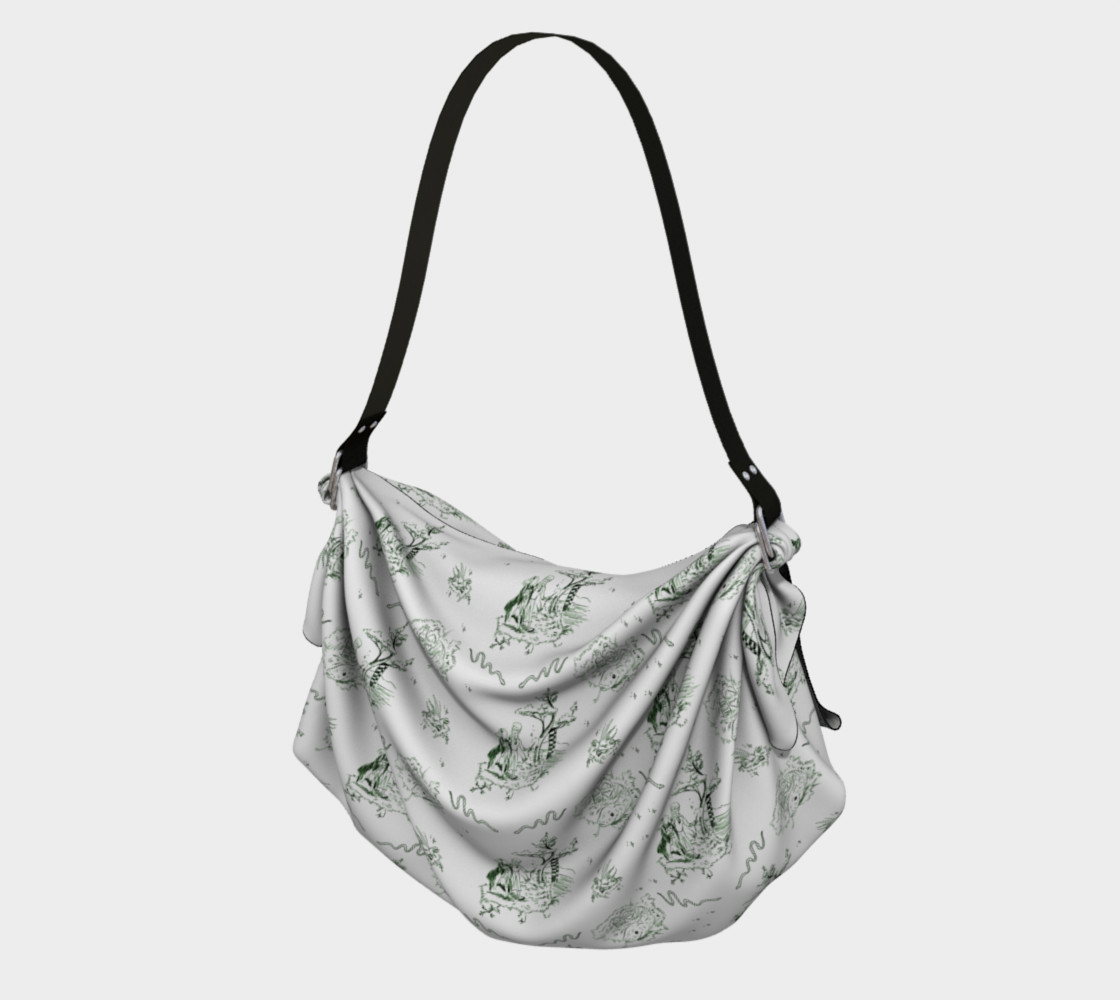 Slytherin Origami Tote 3D preview