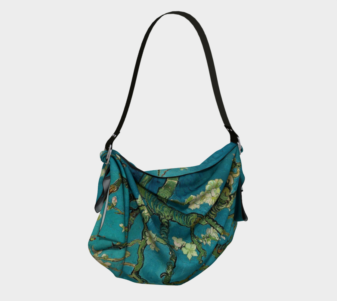 Vincent Van Gogh Blossoming Almond Tree Origami Tote preview #2