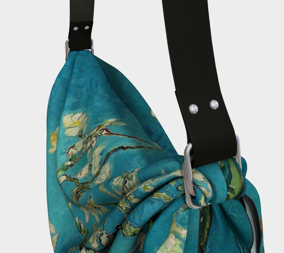 Vincent Van Gogh Blossoming Almond Tree Origami Tote preview #3