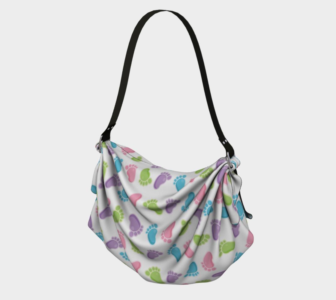 Aperçu de Baby Footprints Diaper/Origami Bag #1