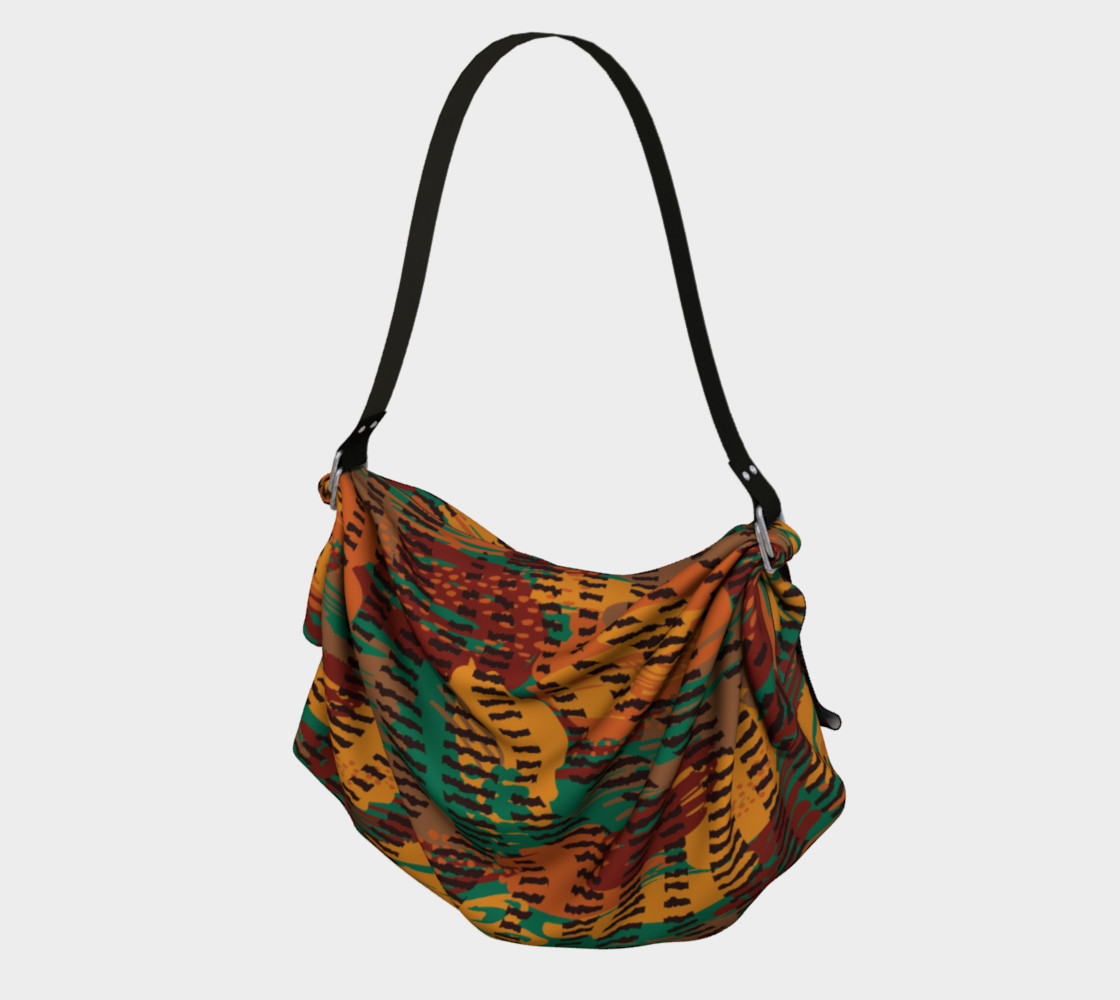 Abstract Animal Stripes Origami Tote preview #1