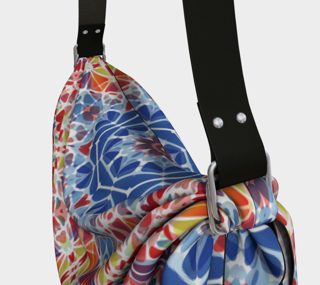 Blue and Orange Kaleidoscope Origami Tote preview #3