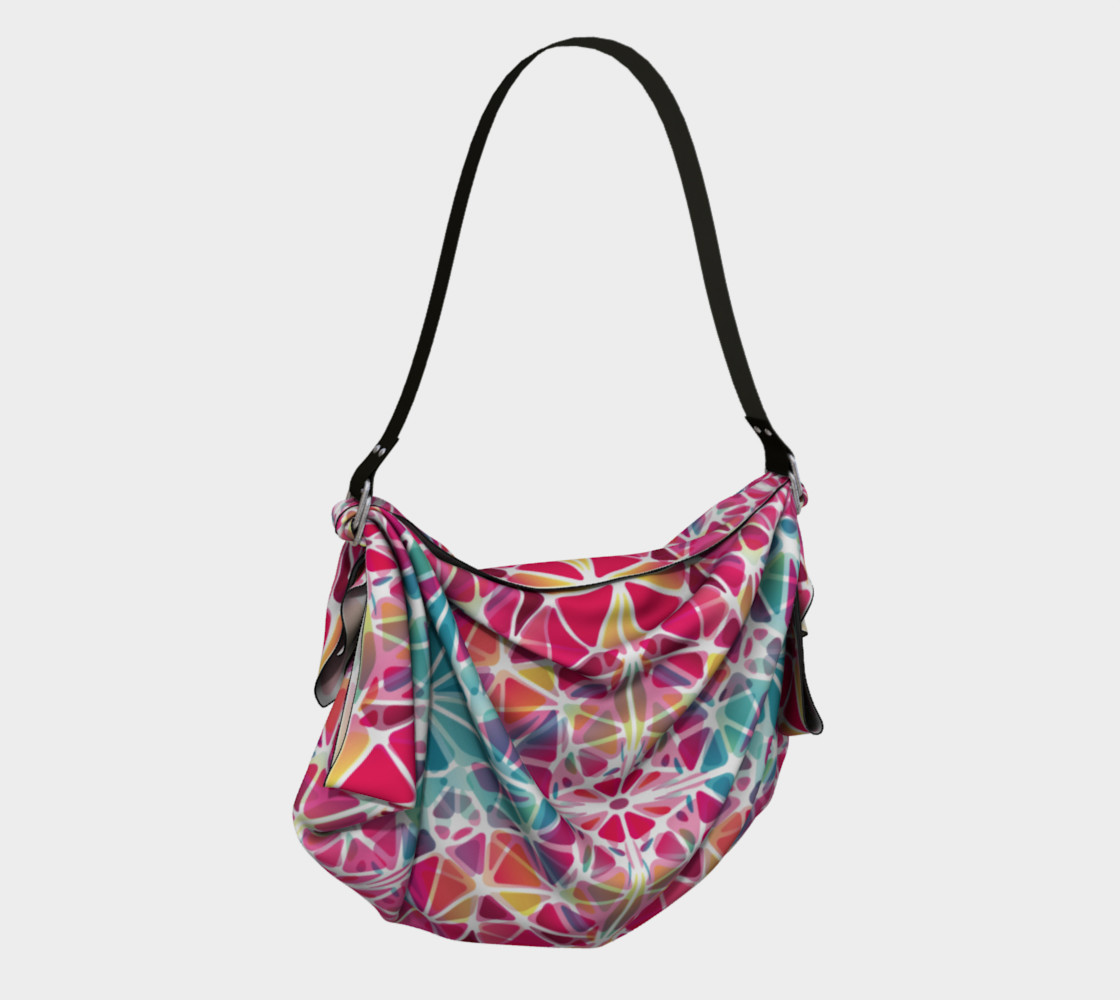 Pink and Blue Kaleidoscope Origami Tote preview #2