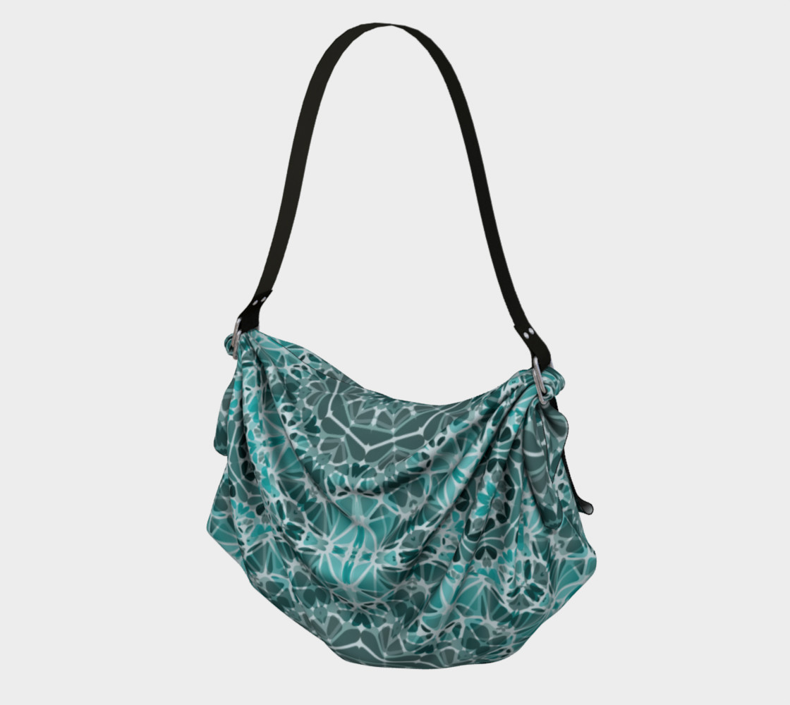 Turquoise & Gray Kaleidoscope Origami Tote preview #1