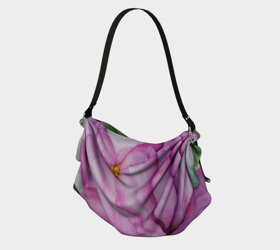 TROPICAL PINK ORCHID in WATERCOLOR Origami Bag preview #1