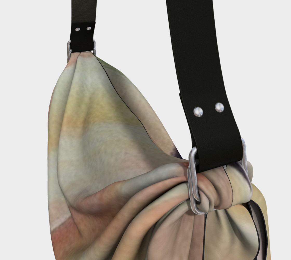 YELLOW ORANGE SWIRLS in WATERCOLOR Origami Tote Bag preview #3