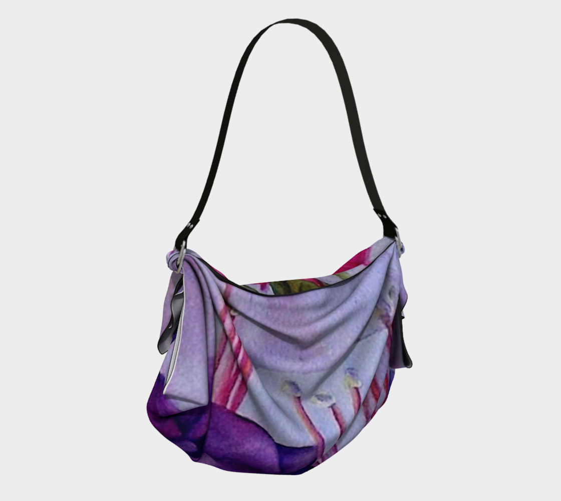 FUCHSIA FLOWER in WATERCOLOR Origami Bag preview #2