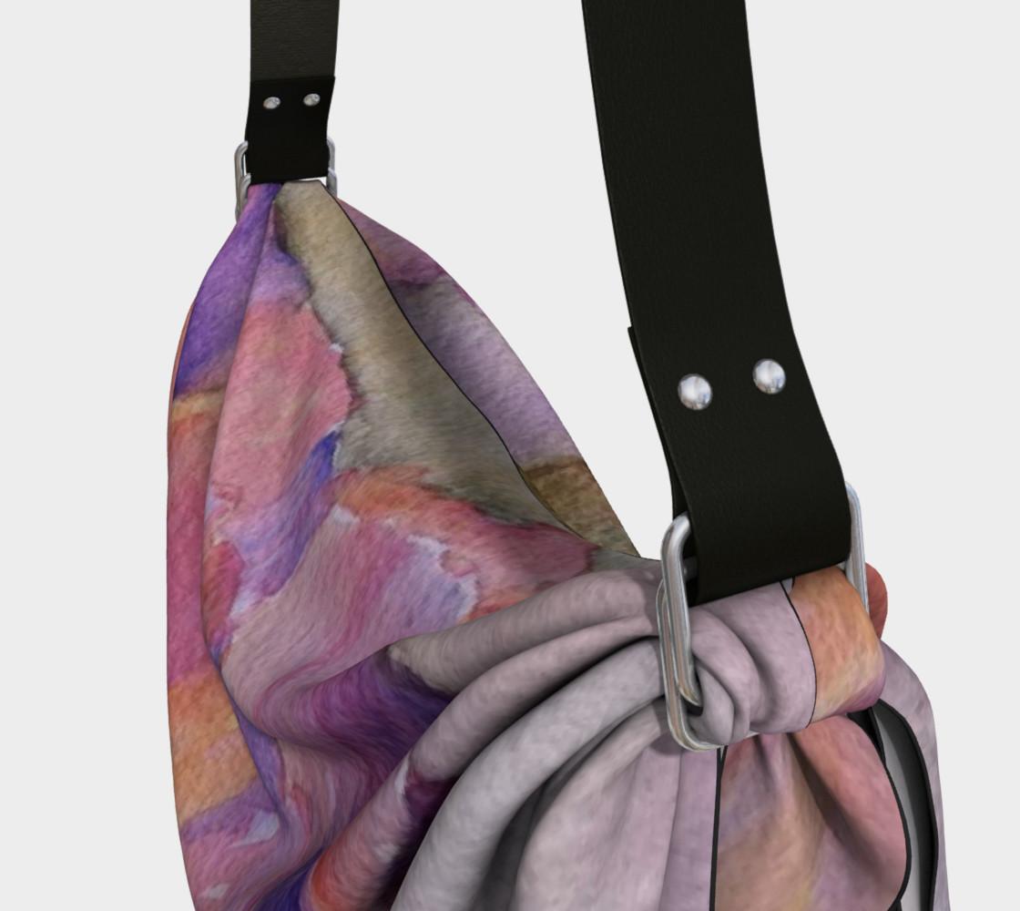 PINK IRIS PETALS in WATERCOLOR Origami Bag preview #3