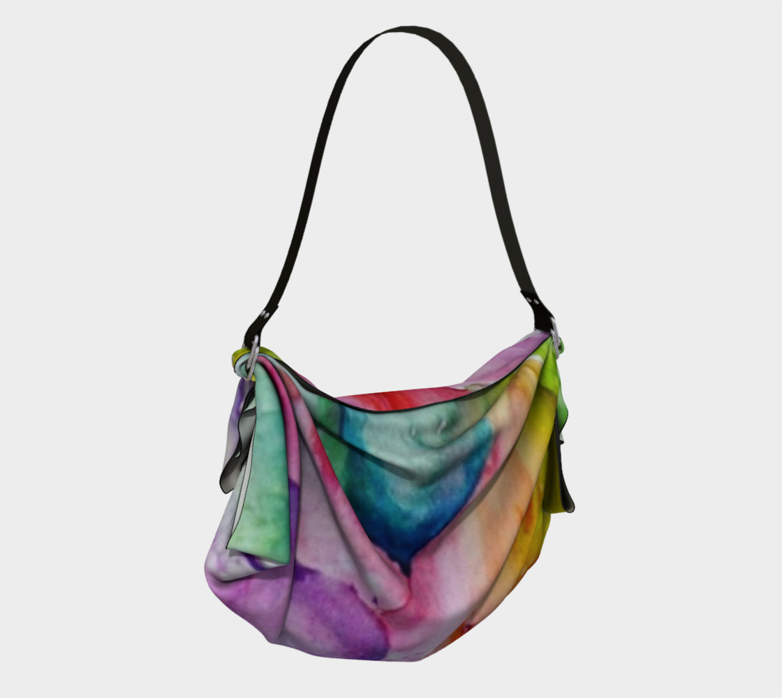NEON LILY in WATERCOLOR Origami Bag preview #2