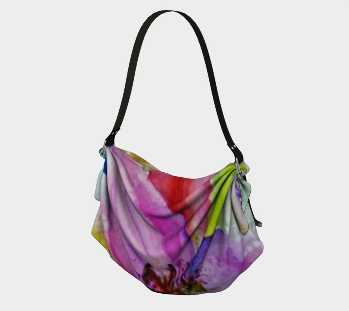 NEON LILY in WATERCOLOR Origami Bag preview #1