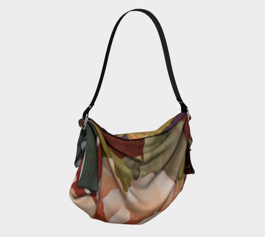 ANTIQUE ROSE in WATERCOLOR Origami Bag preview #2