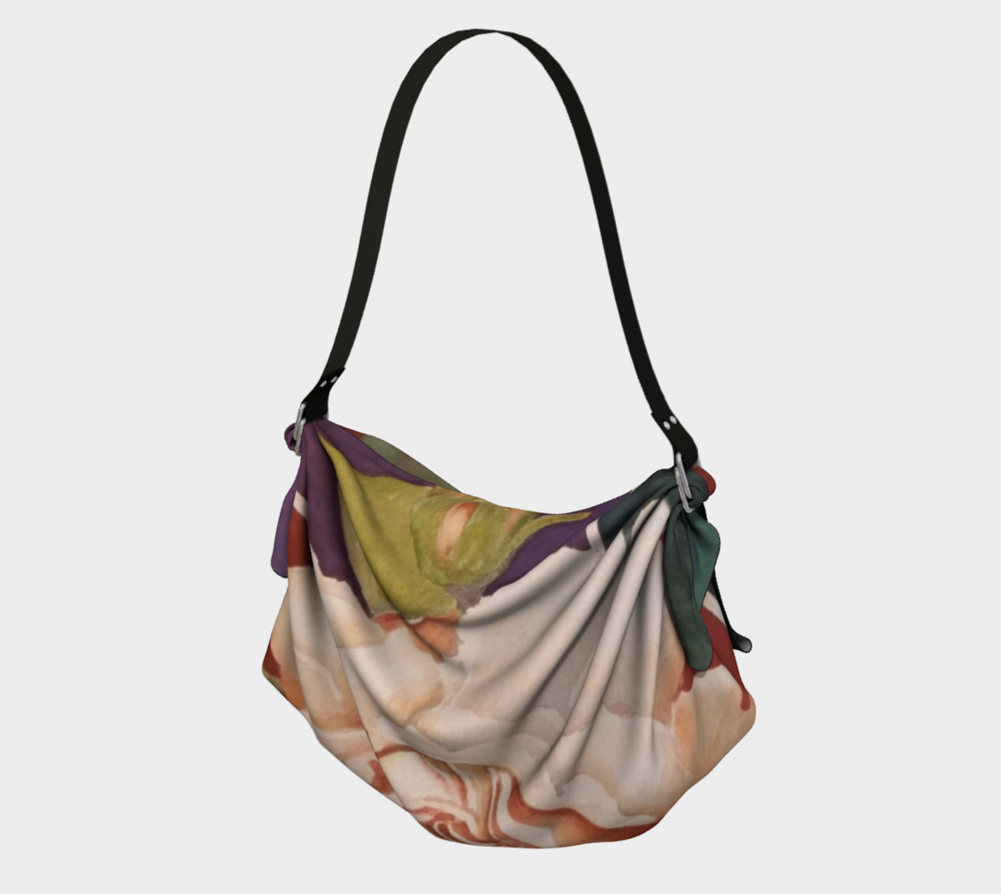 ANTIQUE ROSE in WATERCOLOR Origami Bag preview #1