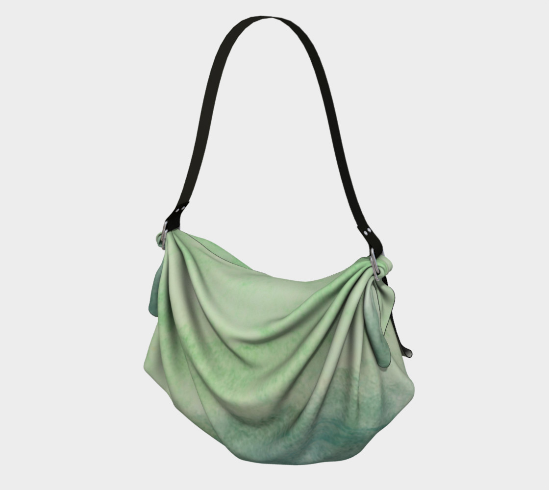 Green Dimension Flower Origami Tote preview #1