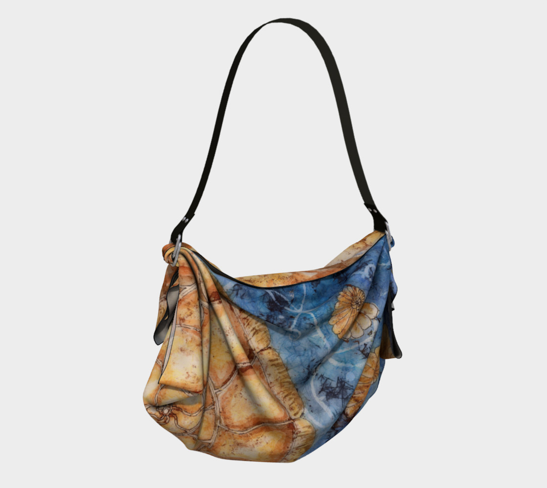Ammonite Shell Under the Sea Fibonacci Origami Tote preview #2