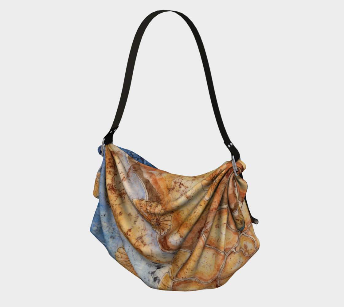 Ammonite Shell Under the Sea Fibonacci Origami Tote preview #1