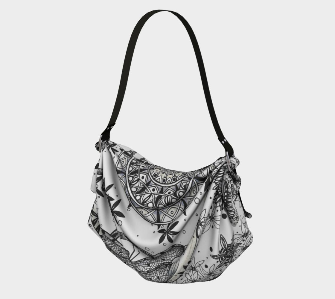 Mandala Dragonfly Fibonacci Floral Origami Bag preview #1