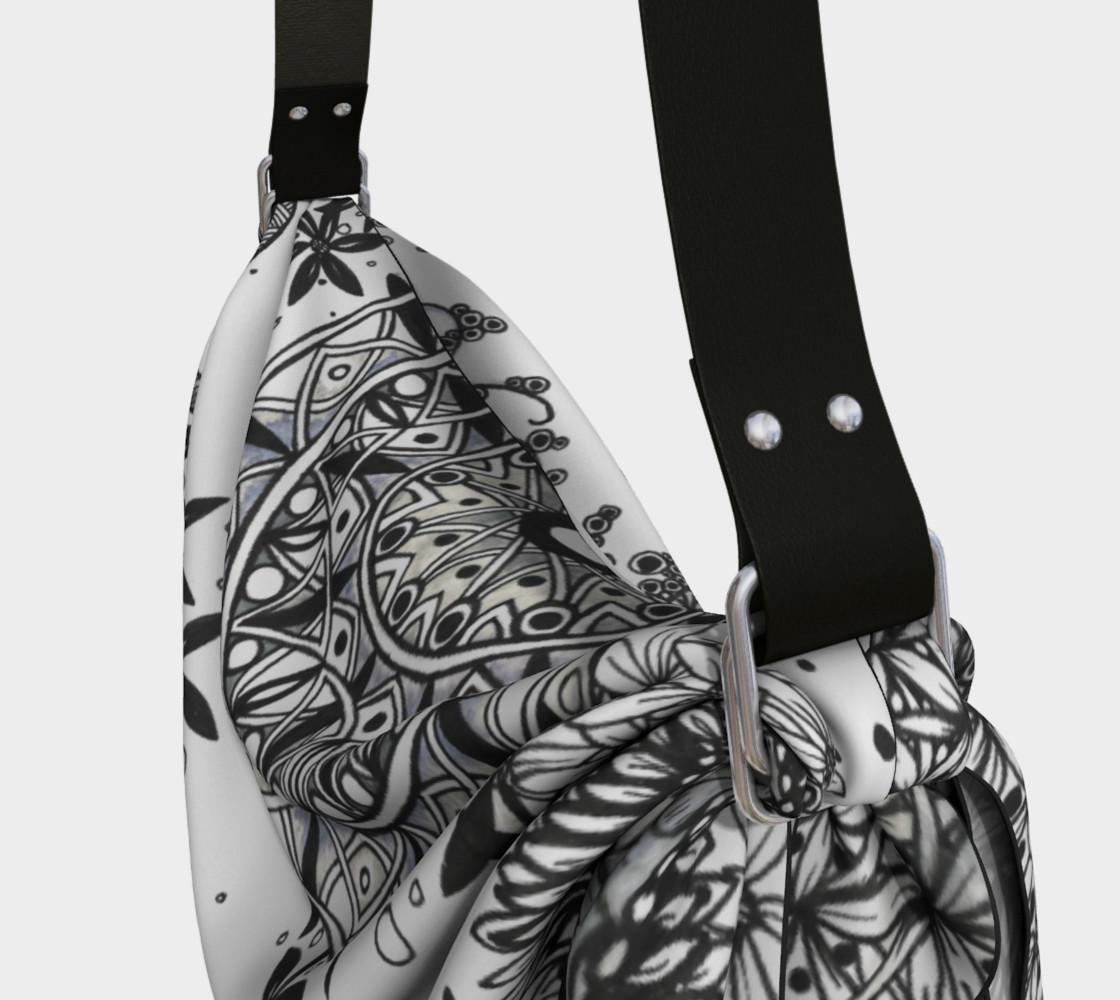 Mandala Dragonfly Fibonacci Floral Origami Bag preview #3