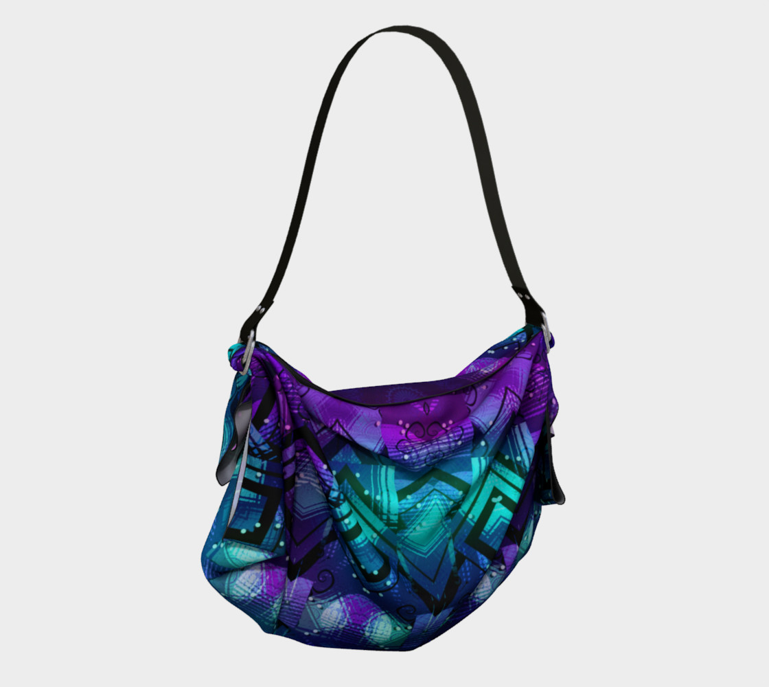 Celestial Midnight Mandala Half Origami Tote preview #2