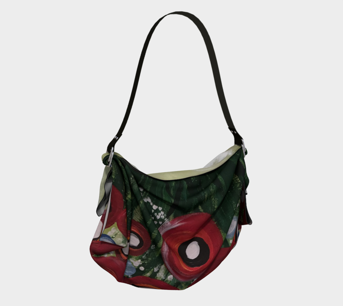 Whimsical Poppy Origami Tote preview #2