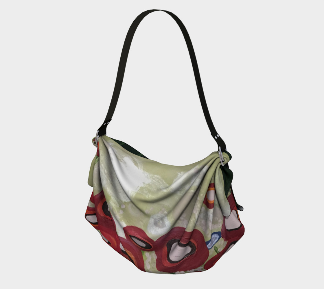Whimsical Poppy Origami Tote preview #1