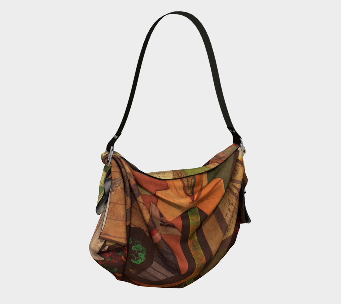 Aperçu de Origami Tote with a Beautiful Autumn Fractal Collage of Fall Colors #2