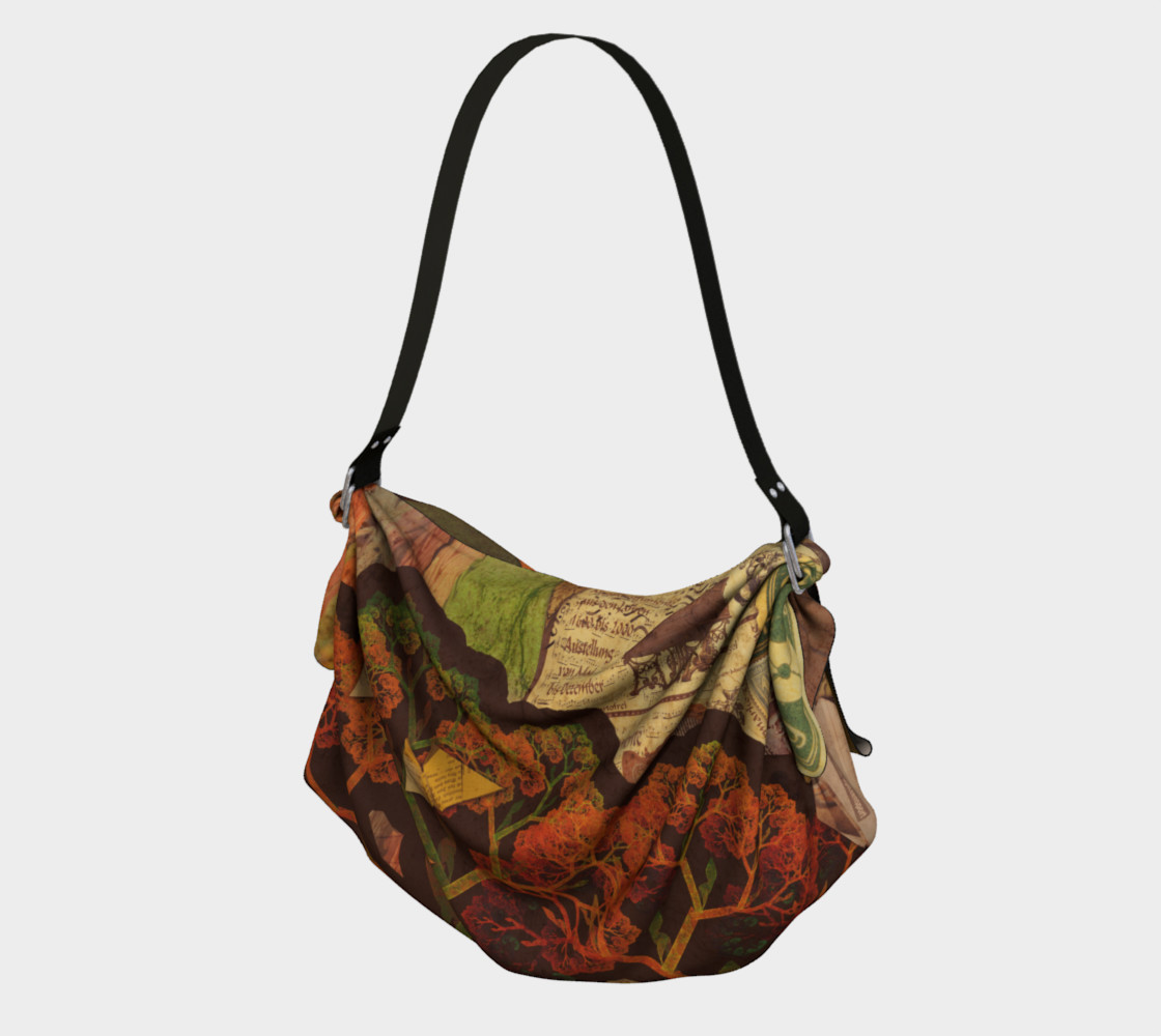 Aperçu de Origami Tote with a Beautiful Autumn Fractal Collage of Fall Colors #1