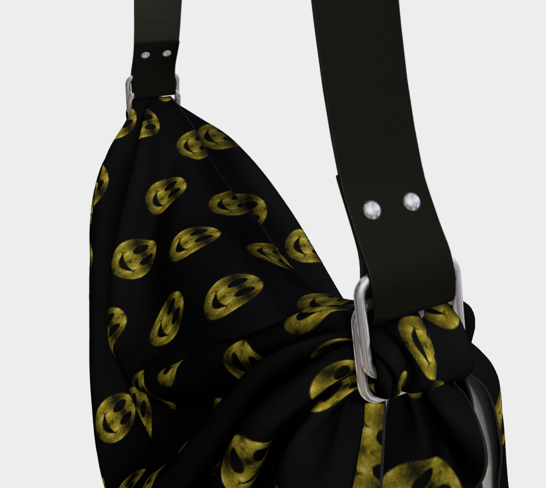 Sparkly Smiley Yellow Gold sparkles pattern Black preview #3