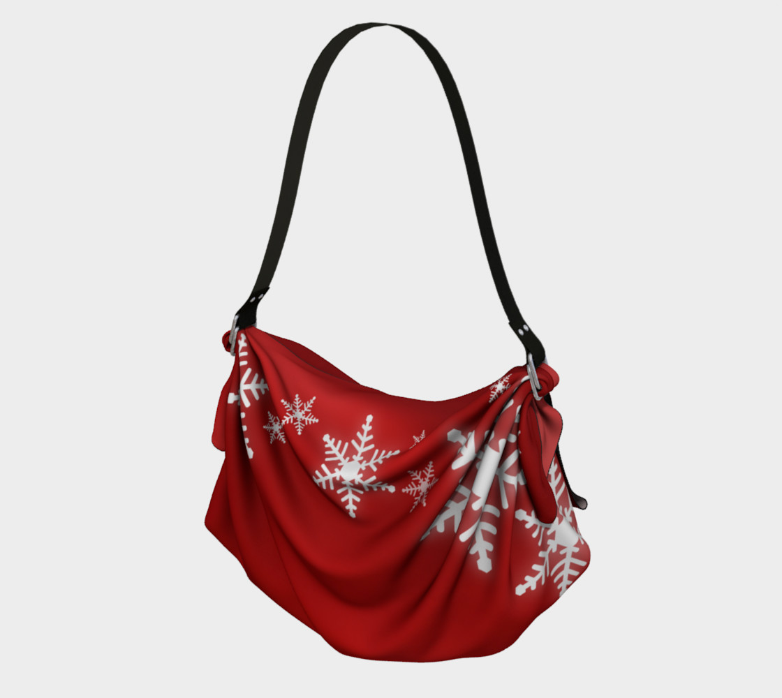 Aperçu de Snowflakes Red Christmas #1