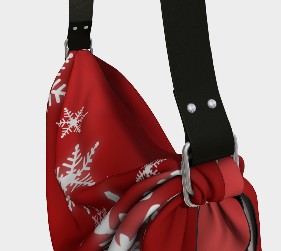Aperçu de Snowflakes Red Christmas #3