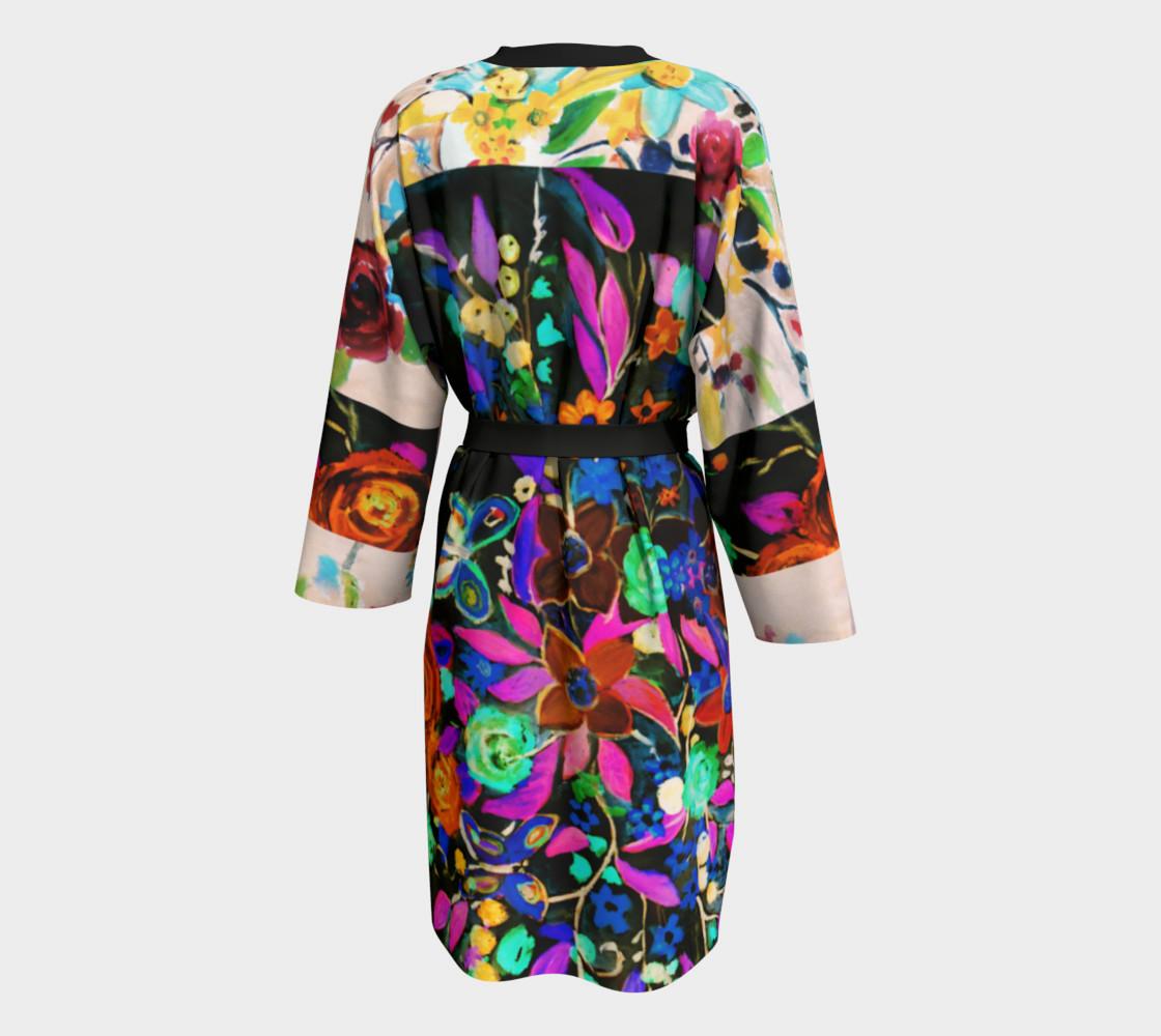 Aperçu de Bohemian Night Garden Long Peignoir Robe #2