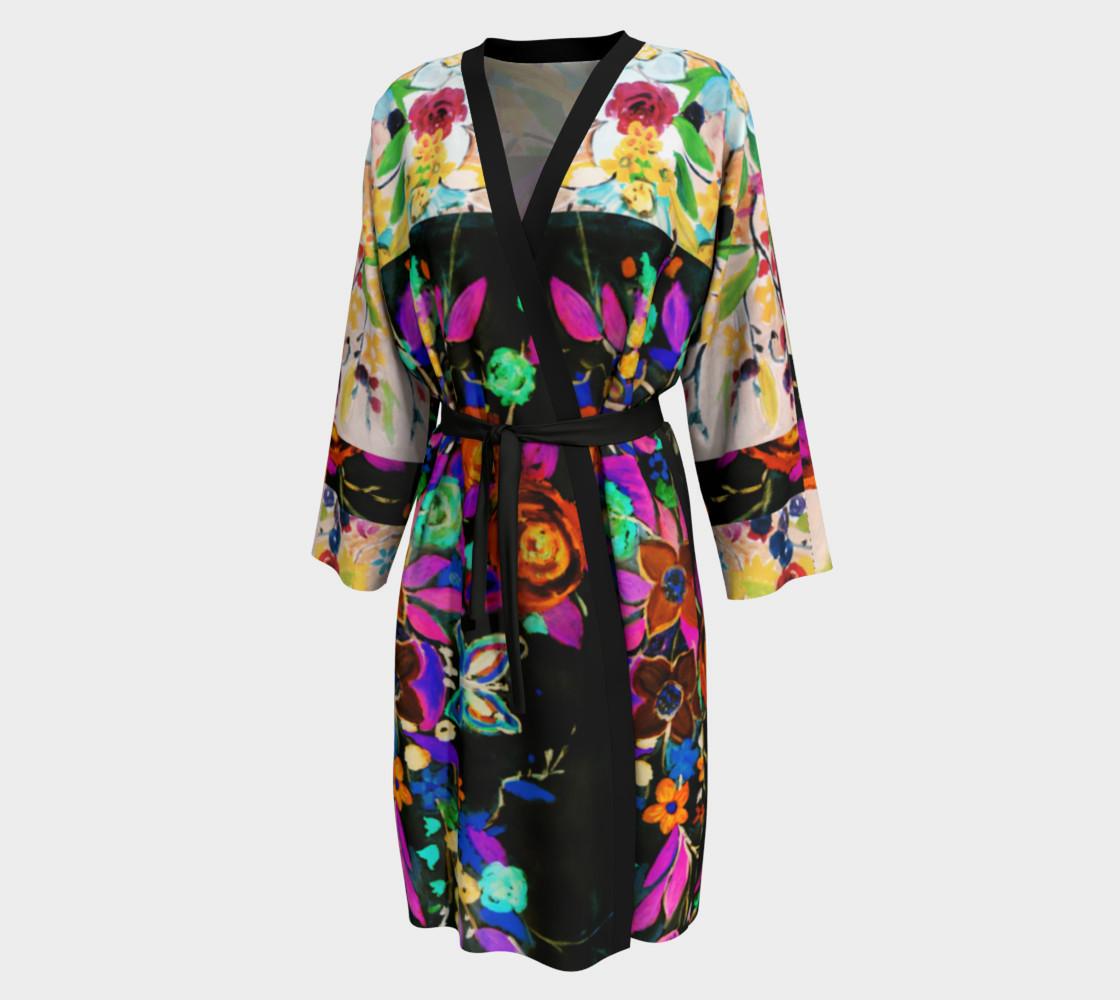 Aperçu de Bohemian Night Garden Long Peignoir Robe #1