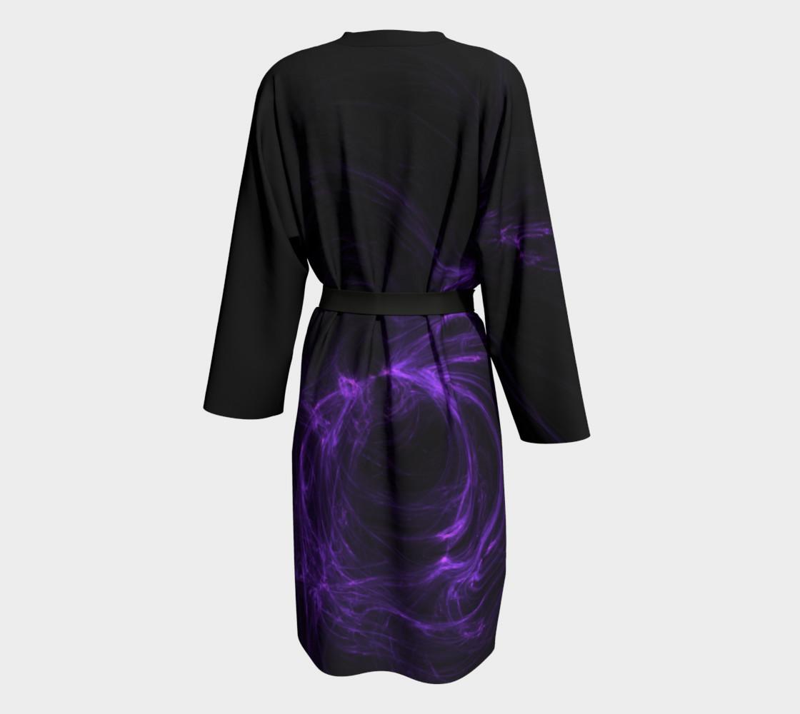 Purple Fractal on Black Peignoir preview #2