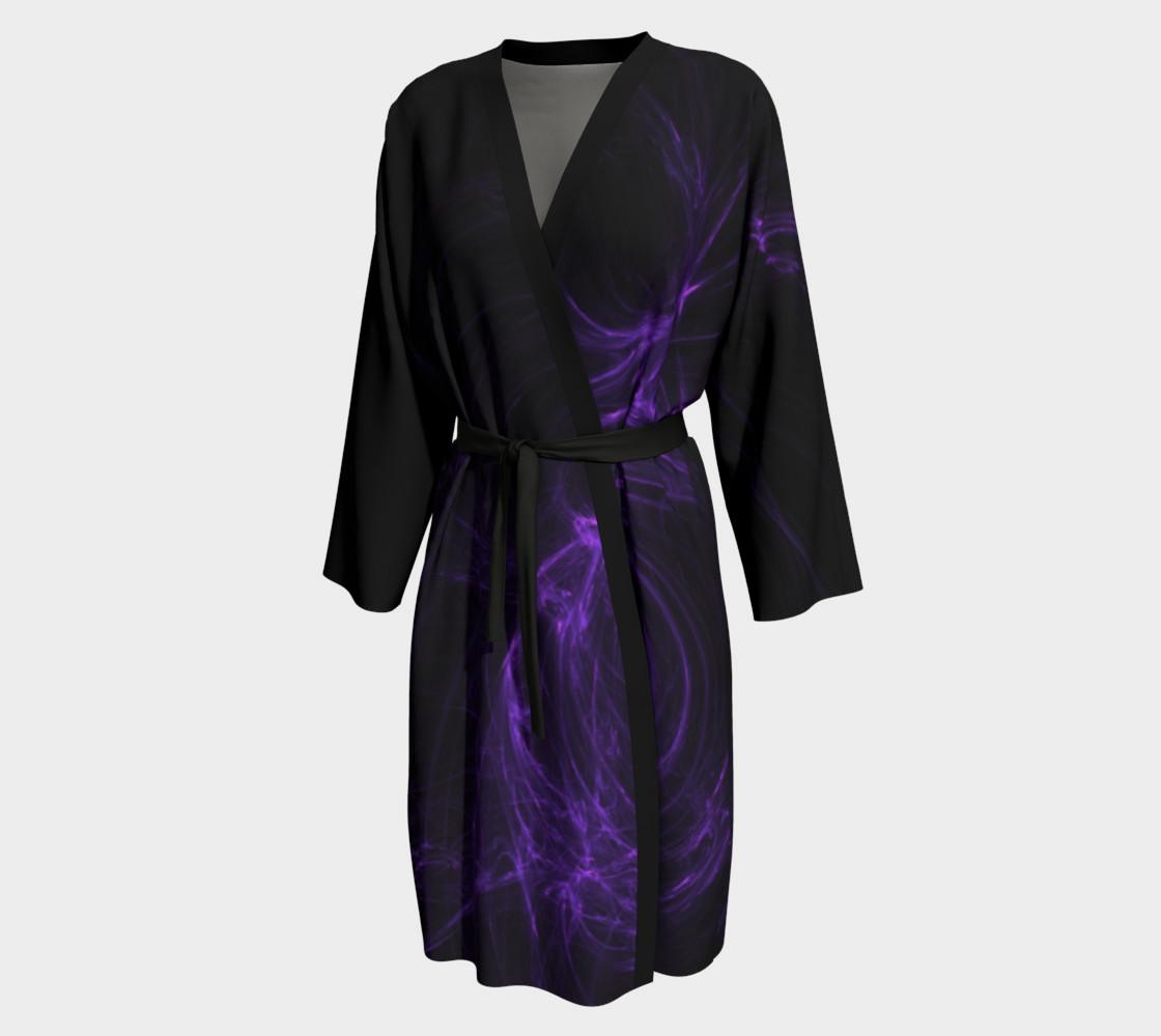 Purple Fractal on Black Peignoir preview #1