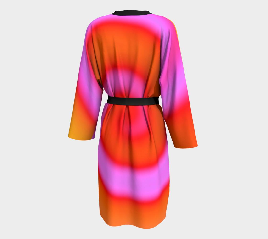 Aperçu de Bright Colorful Orange Pink Swirl Abstract #2