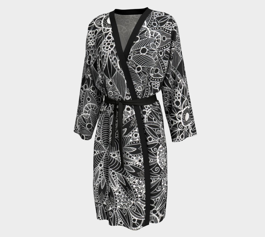 Black and White Mandala Pattern Peignoir preview #1