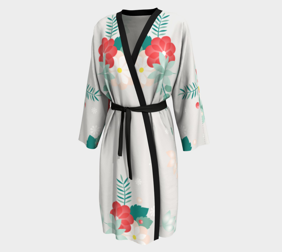 Long Floral Robe preview #1